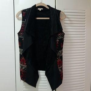 Francesca's black Aztec vest